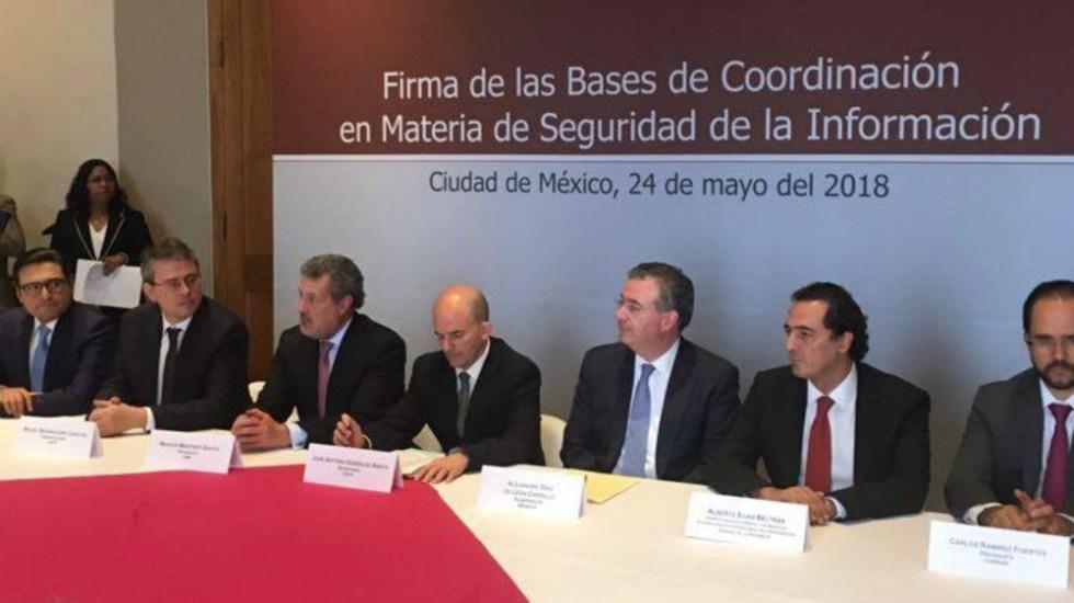 Autoridades e industria financiera firman acuerdo para responder a ciberataques - Foto de SHCP