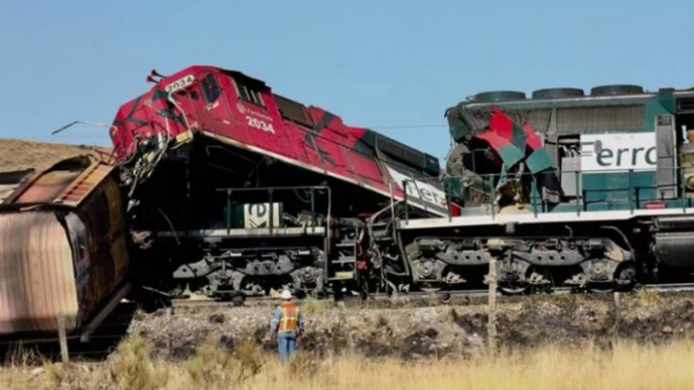 Por error humano, choque de trenes; reportan un muerto y cinco heridos - Foto de Norte Digital