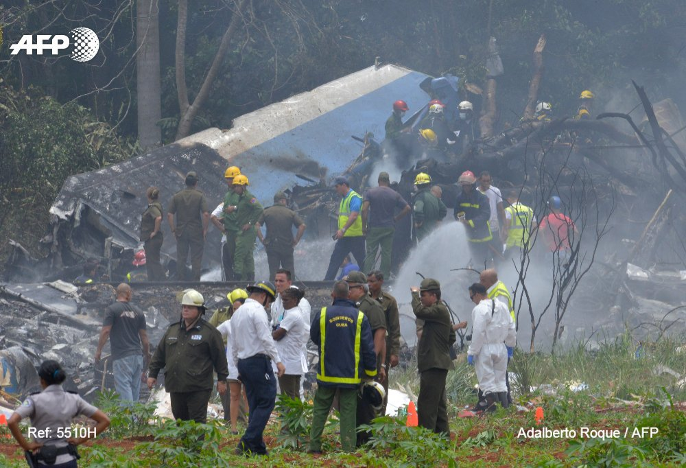 Accidente de avión Boeing 737. Foto de AFP