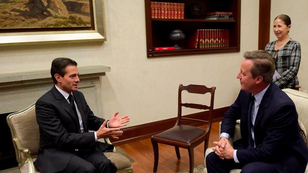 EPN se reúne con ex primer ministro británico