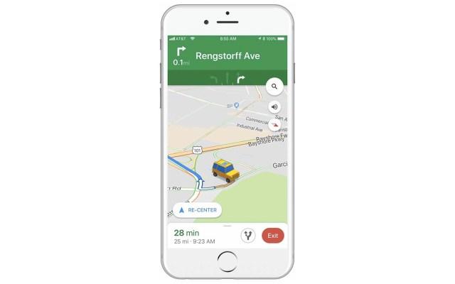 Ya se podrá cambiar la flecha por un cochecito en Google Maps - Foto de Google