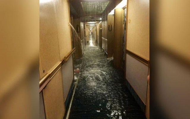 #Video Inundación en crucero de Carnival Cruise - Captura de Pantalla