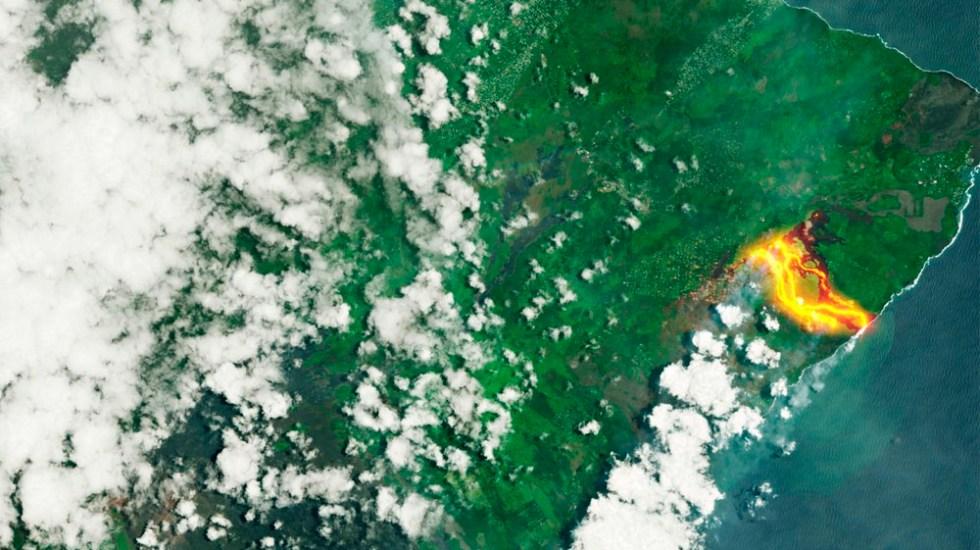 Fotos del volcán Kilauea desde el espacio - Foto de @esa