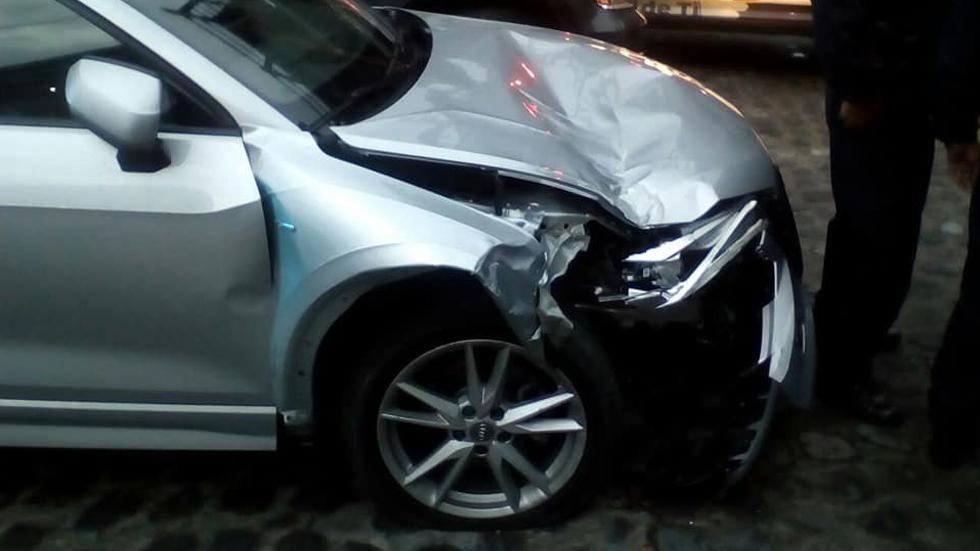 Líder del PRI de Morelos choca su Audi por manejar 'borracho'