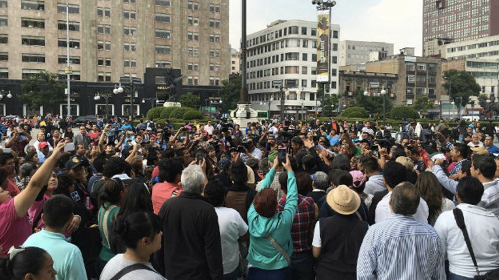 Las manifestaciones de este martes en la Ciudad de México - Foto de Notimex