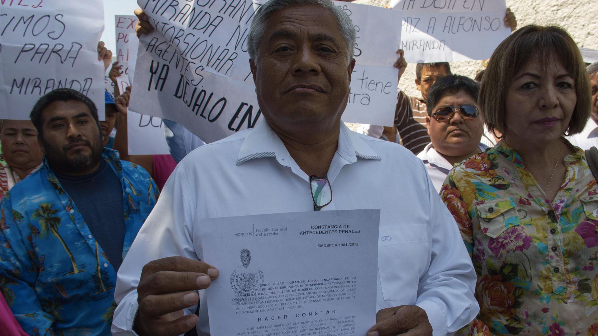 Alfonso Miranda Gallegos, candidato al ayuntamiento de Amacuzac, en prisión