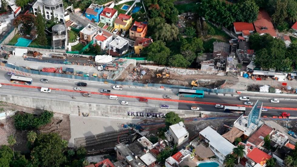 Sanciones por socavón de Paso Exprés en junio: SFP - Foto de La Jornada