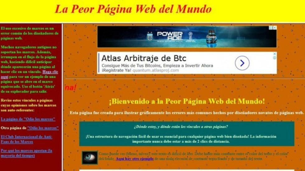Cuál es la peor página web del mundo?