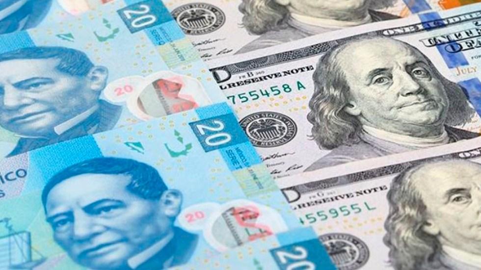 Peso mexicano se ubica en los 20.05 por dólar - Foto de internet