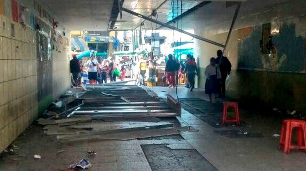 Caída de plafones deja cuatro heridos en Viaducto - Foto de @SUUMA_CDMX