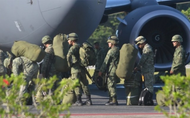 Policía militar reforzará la seguridad en Cancún - Foto de Internet