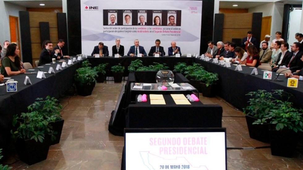 INE mantiene orden de participación y reduce duración de segundo debate - Foto de Notimex
