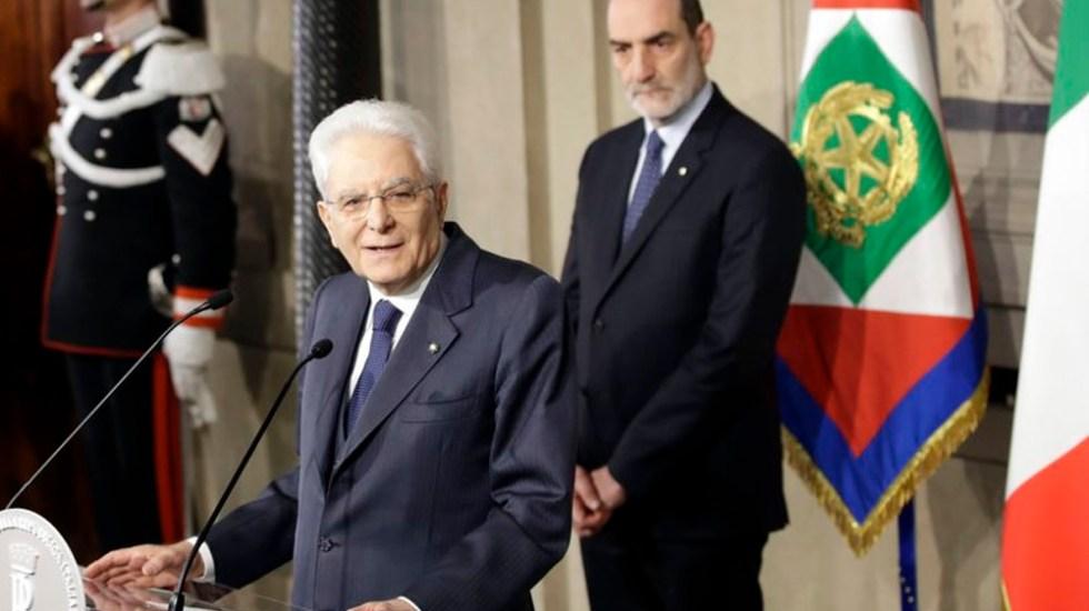 Confirman formación de gobierno en Italia - Sergio Mattarella. Foto de AP