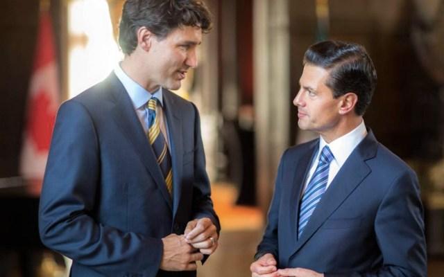 Justin Trudeau y Enrique Peña Nieto sostienen diálogo telefónico - Foto de Noticieros Televisa