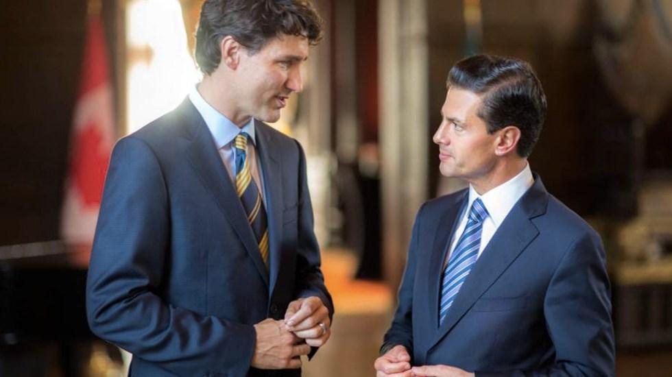 Trudeau y Peña Nieto mantendrán estrecha comunicación en TLC - Foto de Noticieros Televisa