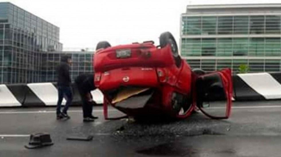 Lluvia provoca accidentes y encharcamientos en la Ciudad de México - Foto Especial