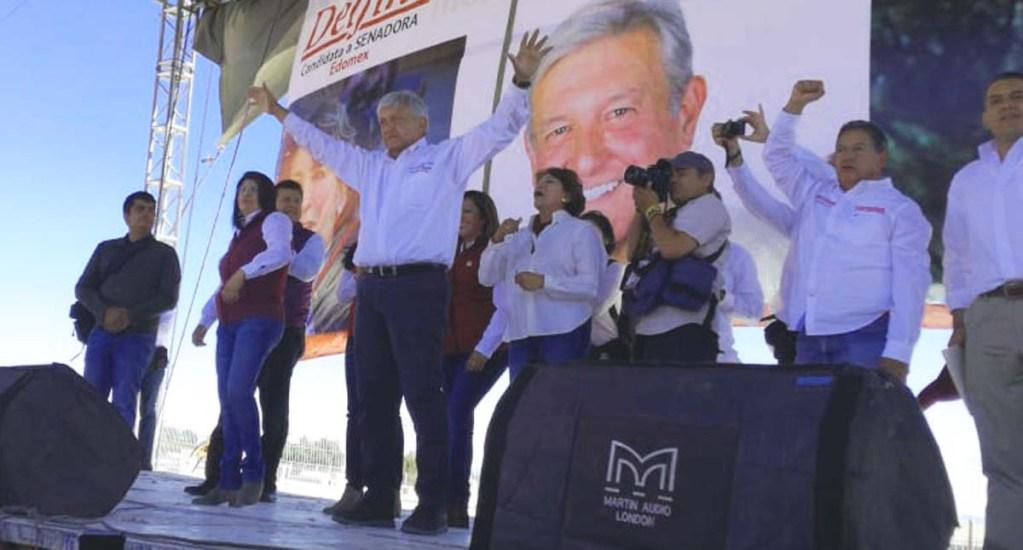 AMLO asegura que le negaron cerrar campaña en el Zócalo - Foto de @edomex_morena