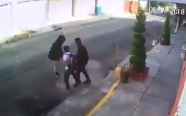 #Video Asaltan a niño de primaria en Iztacalco - Foto Captura de Pantalla