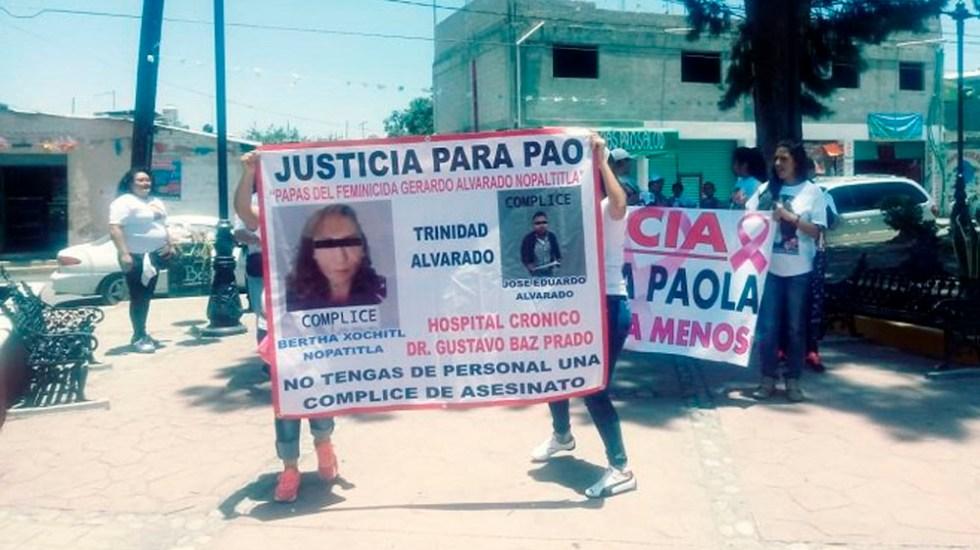 Protestan por feminicidio de menor en el Estado de México - Foto de @Diario_Supremo
