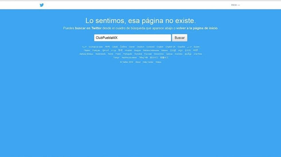 Desaparecen página y redes sociales del Puebla