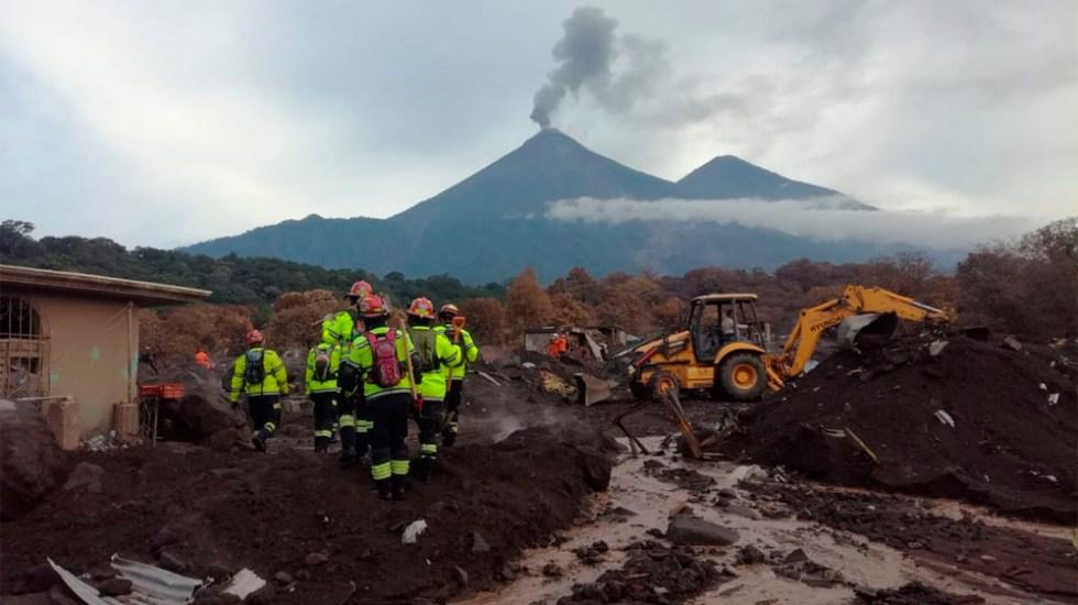 Reanudan búsqueda de víctimas tras erupción del Volcán de Fuego - Foto de @ConredGuatemala