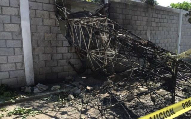 Se desploma avión pequeño en Tabasco y muere el piloto - Foto de @ElBigDataMX