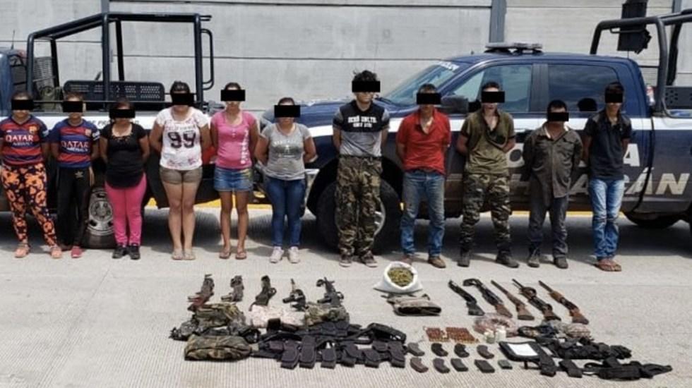 Detienen a 11 presuntos integrantes de los Viagras relacionados con ataque a policías en Michoacán - Foto de Quadratín