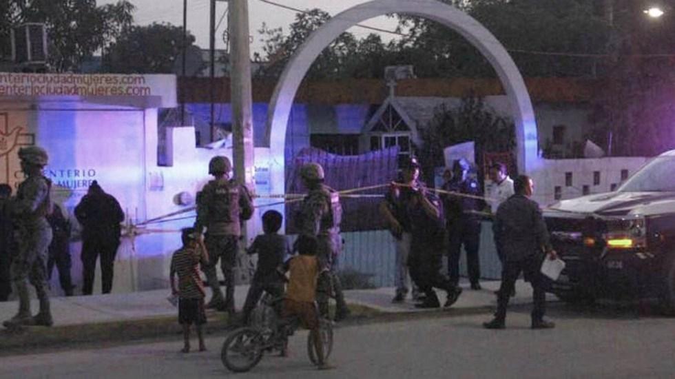 Atentado contra candidata y militante del PRI en Isla Mujeres. Foto de Twitter