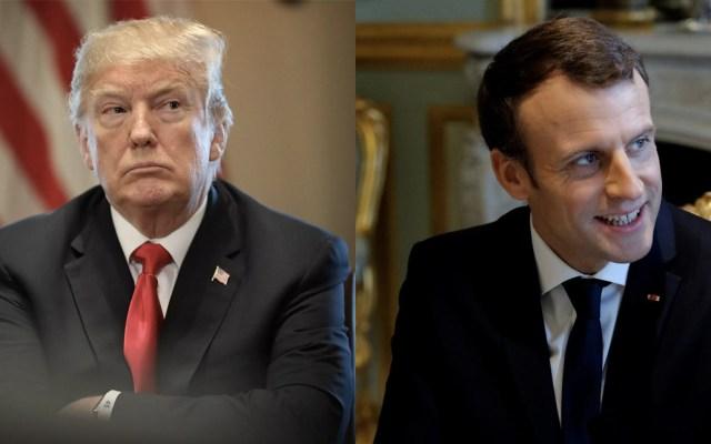 Trump se reunirá con Macron este sábado - trump se reunirá con macron