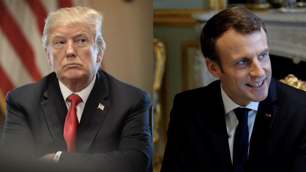 Macron amaga con excluir a EE. UU. de declaración del G7, Trump responde - trump se reunirá con macron