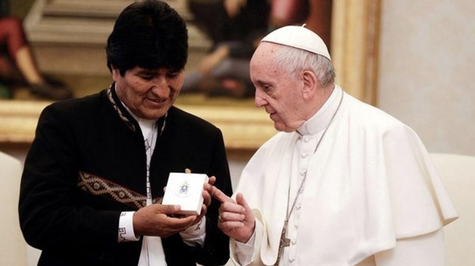 Evo Morales y el papa Francisco conversan sobre el Mundial - Foto de Internet