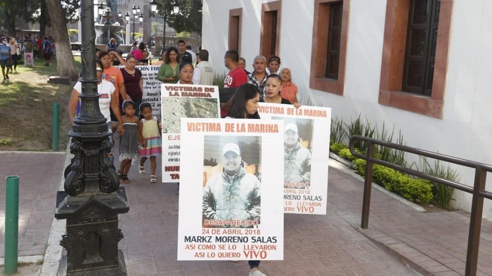Exigen entrar a cuarteles de la Marina para hallar a 57 desaparecidos - Foto de Héctor Tellez