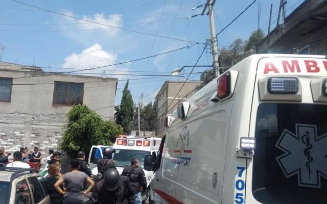 Flamazo deja dos personas heridas en Iztapalapa - Foto de Jorge Becerril