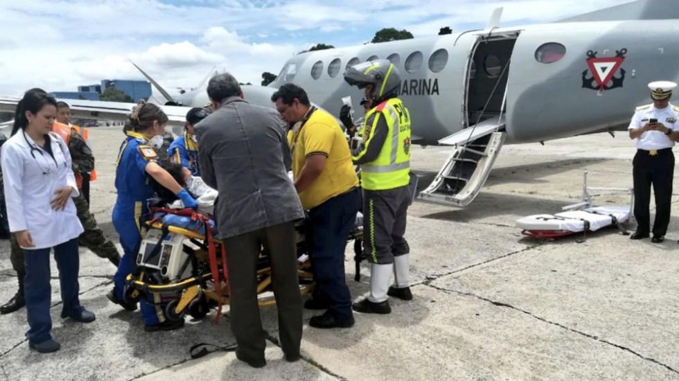 Trasladarán a México a siete guatemaltecos heridos por erupción volcánica - Foto de @GuatemalaGob