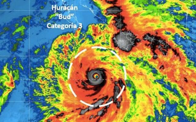 Huracán Bud escala a Categoría 3 y se acerca a las costas de Jalisco - Foto de Conagua