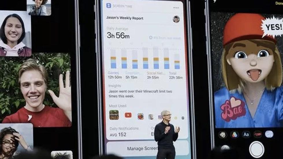 Apple anuncia nuevas características del iOS 12 - Foto de AP