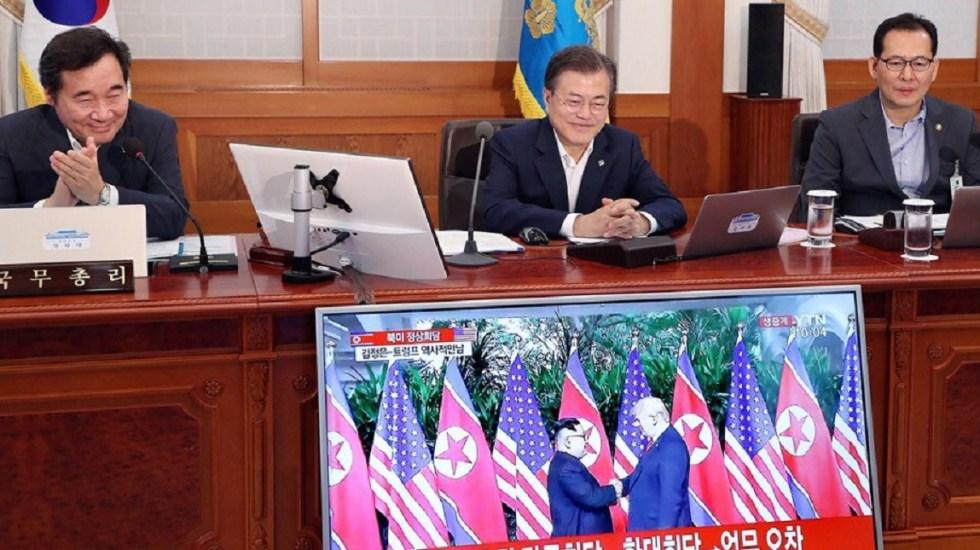 Líder surcoreano aplaude el éxito de cumbre Trump-Kim - Foto de internet