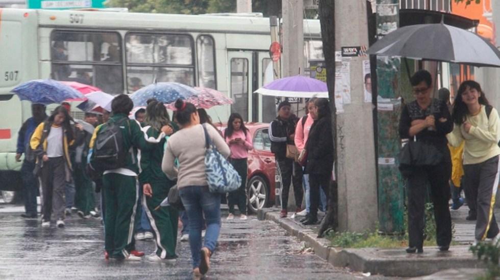Llueve en gran parte de la Ciudad de México - Foto de Notimex