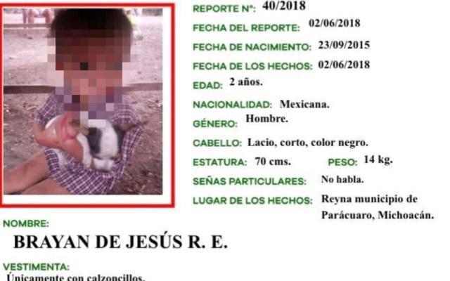 Hallan cuerpo de menor desaparecido en Parácuaro, Michoacán - Foto de Twitter