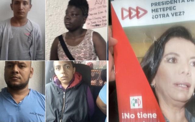 Detienen a centroamericanos por distribuir propaganda negra en Metepec - Foto de @c4jimenez