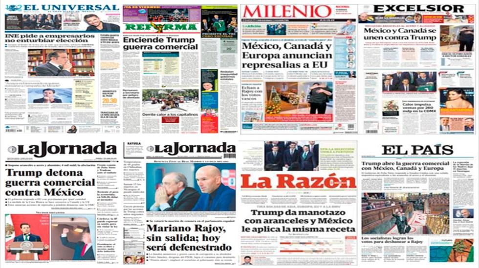 Trump, aranceles y Rajoy en primeras planas