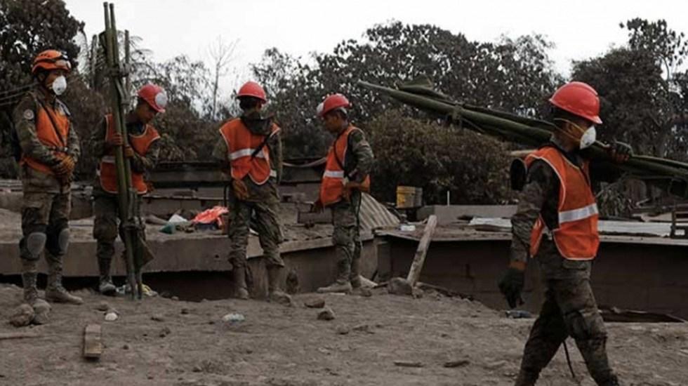 Sube a 332 cifra de desaparecidos tras erupción de volcán en Guatemala - Foto de EFE