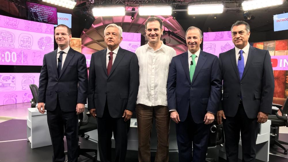 """""""A los candidatos les faltó propuestas, les sobró frivolidad"""": Coparmex - Los cuatro candidatos presidenciales. Foto de INE"""