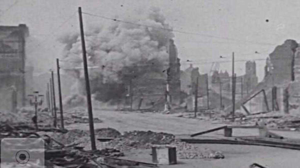 #Video Muestran filme inédito sobre devastación del terremoto de 1906 en San Francisco - Foto de Silver Shadows Gallery