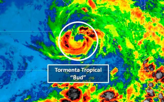 Bud se degrada a tormenta tropical frente a costas de Jalisco - Foto de @conagua_clima