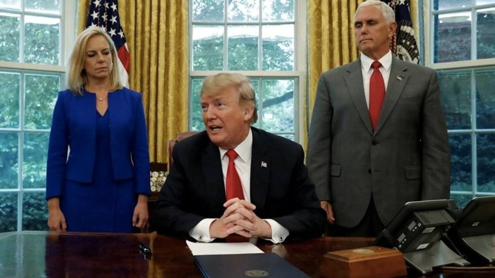 Trump detiene la separación de familias migrantes - trump prepara orden ejecutiva contra caravana migrante