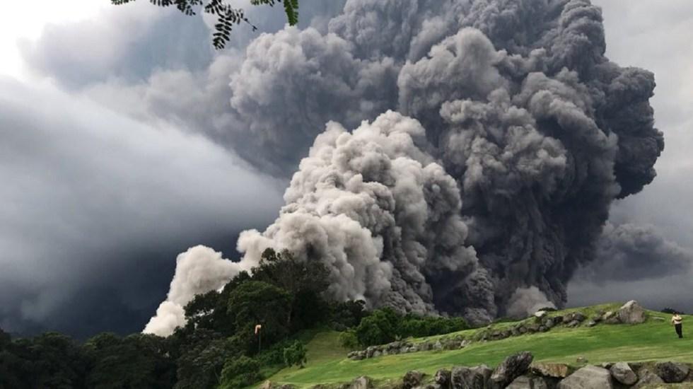 Aumenta a 75 la cifra de muertos tras erupción en Guatemala - Foto de Twitter