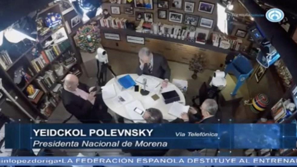 Hijo de López Obrador no le gritó cerdo a Anaya: Polevnsky - Captura de Pantalla