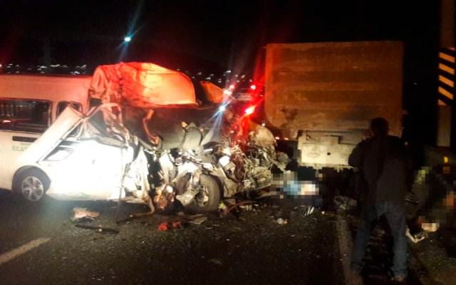 Chofer, presunto responsable del accidente en la México-Pachuca: Fiscalía Edomex - Foto de @SUUMA_CDMX