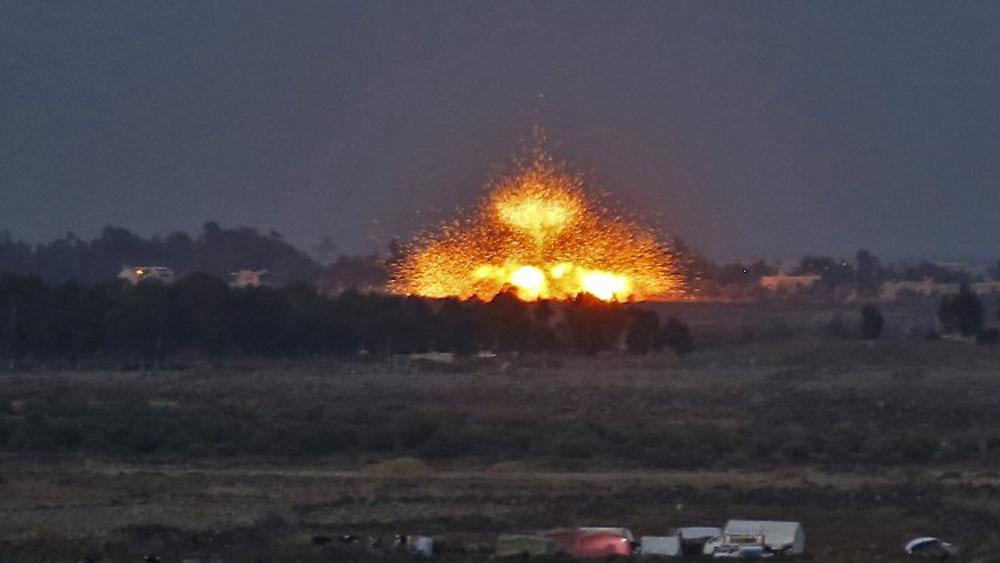 Ataque aéreo israelí deja siete muertos en Siria - Foto de JALAA MAREY / AFP